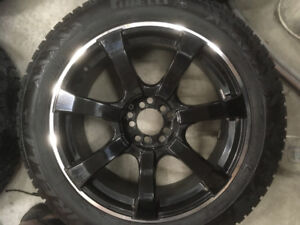 "18"" Winter Carving Snow Tires on Alloy Multi Fit Rims"