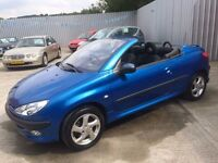 02 Peugeot 206cc 1.6 Convertible - MOT April 18 - Alloys - S/H - Electric Roof - PX WELCOME