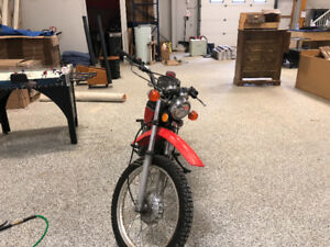 1977 Honda XL Street and Trail