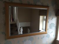 Large beech mirror