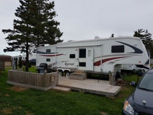 Gagnon Beach(Cape Pele) Trailer, deck and available lot.(REDUCED