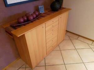Selling beautiful timber veneer buffet with matching side table, Edensor Park Fairfield Area Preview