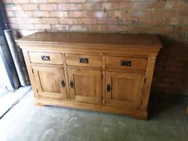 Oak Furniture Land French Farmhouse Rustic Solid Oak Sideboard