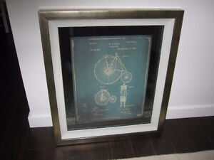 "Framed Bicycle Picture - 26"" wide x 30"" long"