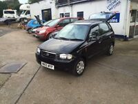 Suzuki Alto 1.1 £30 a year road tax Full MOT+Service+Warranty+cam Belt all included,