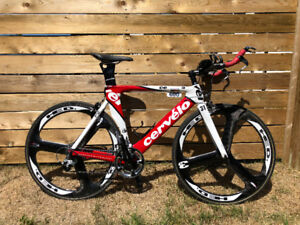 Cervelo P2 with HED 3 Wheels. Race Ready!