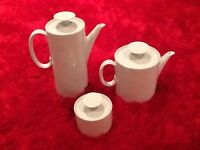 Thomas tea set - incl coffee pot and tea pot + cups, saucers and plates
