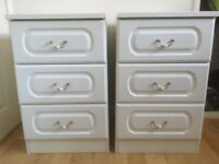 2 Three Draw Bed Side Cabinets