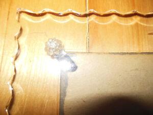 Cadre antique en verre taillé, biseauté et dentelé (vintage)