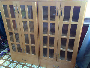 2 Wooden Cabinets