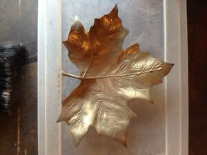 Solid brass maple leaf