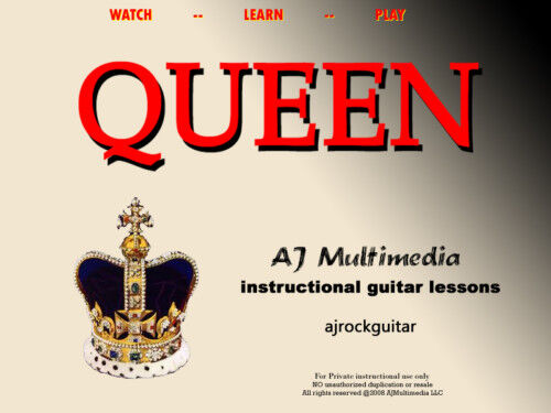 Custom Guitar Lessons, Learn guitar of QUEEN! - DVD Video