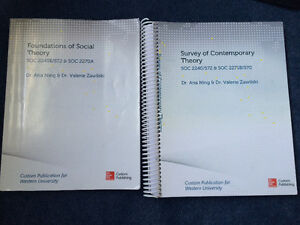 Western Sociology|foundations of social theory/survey of contemp London Ontario image 1