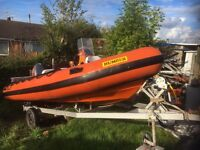 Humber assault 40hp rib roller trailer 5.0metre