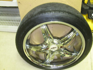 "18"" CHROME RIMS WITH MICHELIN TIRES. TPMS SENSORS."