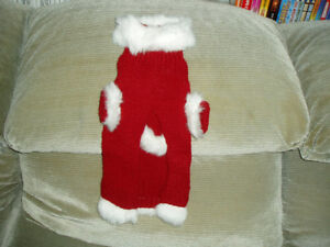 Christmas Hand Knitted Dog Sweater by Ginger's Paw Prints