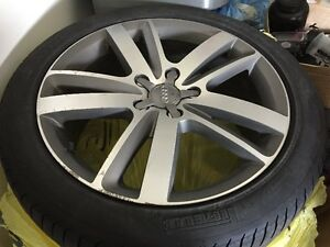 Set of Audi Q7 Custom Rims + All Seasons Tires For Sale