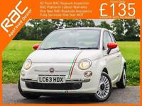 2013 Fiat 500 1.2 Lounge 5 Speed Sunroof Bluetooth Air Con 1 Lady Owner Only 8,0