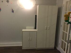 2 armoires de rangement