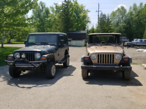 99 and 03 Jeep TJs