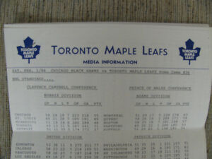 TORONTO MAPLE LEAFS PRESS KIT CIRCA 1986 WENDEL CLARK +FREE GIFT