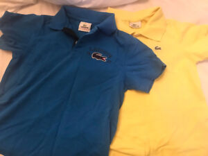 2 Lacoste size 8 fits size 6-7 shirts