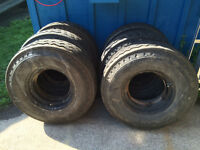 Steel Rims 9-14.5  with Galaxy LT Bias Tires, load range G