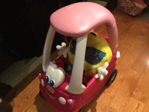 Little Tikes Princess Cozy Coupe Ride-On Foot power car