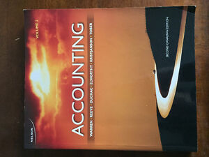 Accounting Volume 2, 2nd Canadian Edition
