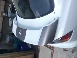 Low rise lancer spoiler wicked white