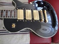 1997 EPIPHONE LES PAUL CUSTOM BLACK BEAUTY ELECT GUITAR $550
