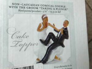 Brand New WEDDING CAKE Topper comical couple