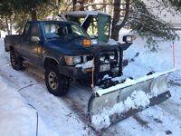 93 toyota 4x4 with plow