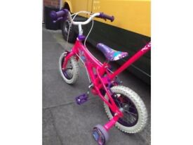 "Kids bike - Girls Pink bike 12.5"" with stabilisers + Parent Control"