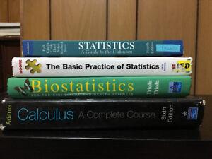 Statistics / Calculus Textbooks