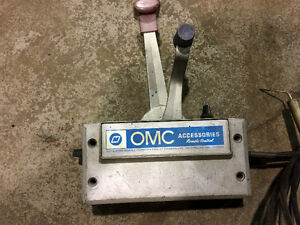 OMC Boat Motor Controls, Propeller and Gas Tank