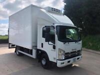 2014 14 ISUZU N75.190 Euro 5 14ft fridge box GAH freezer unit