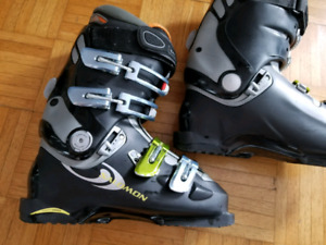 Bottes de ski noires Salomon Evolution 9.0