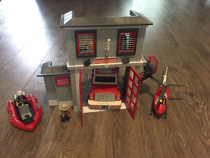 Playmobil Fire Station and Truck