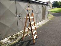 New wooden stepladder.