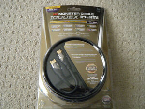 1m monster gold HDMI cable *brand new* Kitchener / Waterloo Kitchener Area image 1