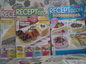 3 HUNGARIAN TEXT RECIPES MAGAZINES SHIP  TO CANADA/USA