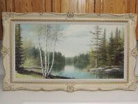 Canadian antique landscape oil painting