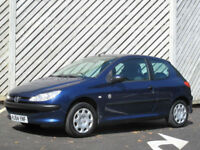 2004/54 PEUGEOT 206 1.1 Independence 3DR HATCH -CHEAP TAX - LOW INSURANCE !!