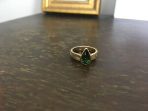 Tourmaline Wedding Ring Set