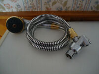 Hand Shower with 5-Foot Flexible Hose & Swivel Base