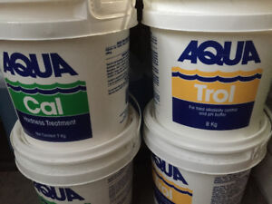 Pool chemicals for city water.