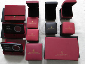 Empty Royal Canadian Mint Coin Boxes