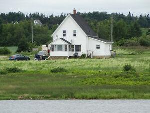 1.5 Storey House on 4 + Acres Waterfront in Grand River, P.E.