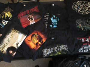 Assorted band tees